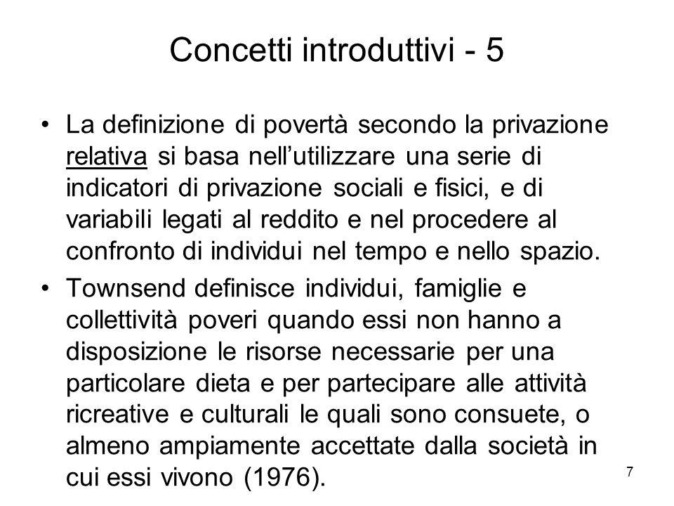 18 Assiomi - 3 Assioma E o del benessere monotonico (Sen, 1976): stabilisce, in pratica, una relazione diretta tra reddito e benessere.