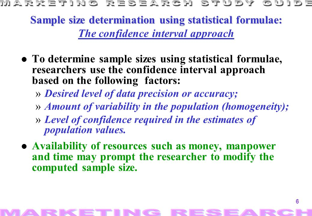 7 Sample size determination by t Sample size determination by the confidence interval approach: the average parameter l Dallequazione ricavo