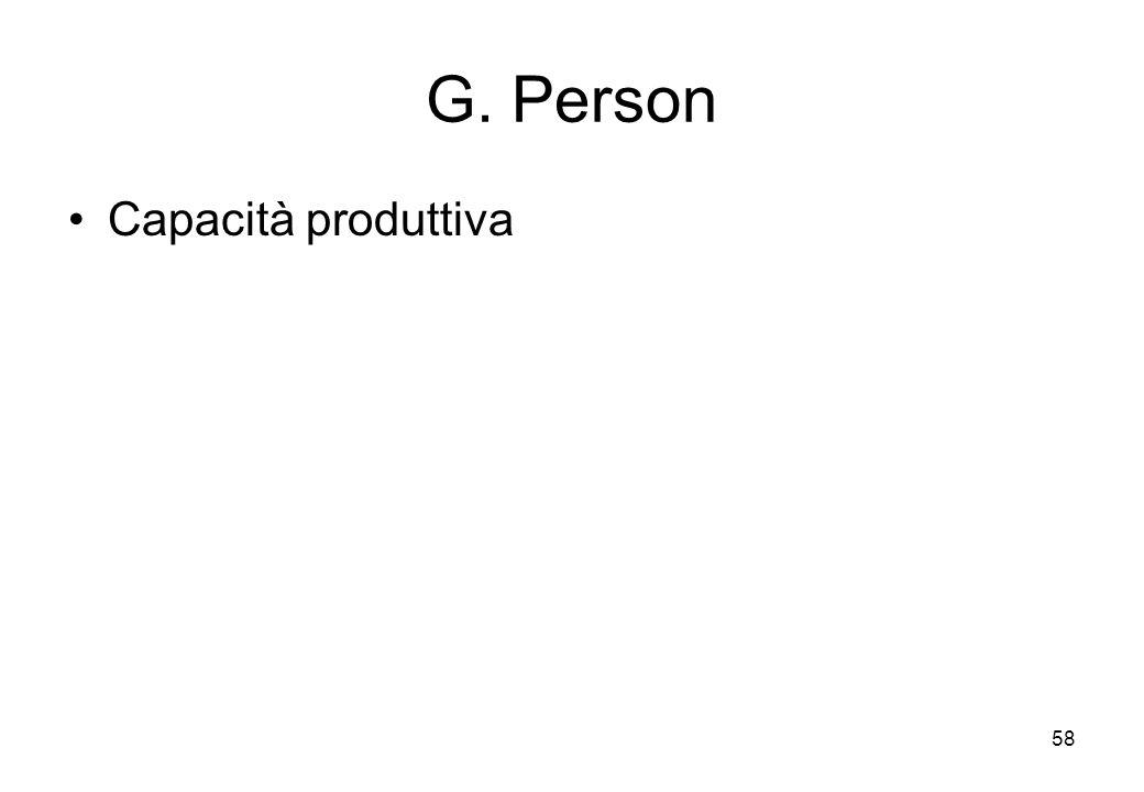 G. Person Capacità produttiva 58