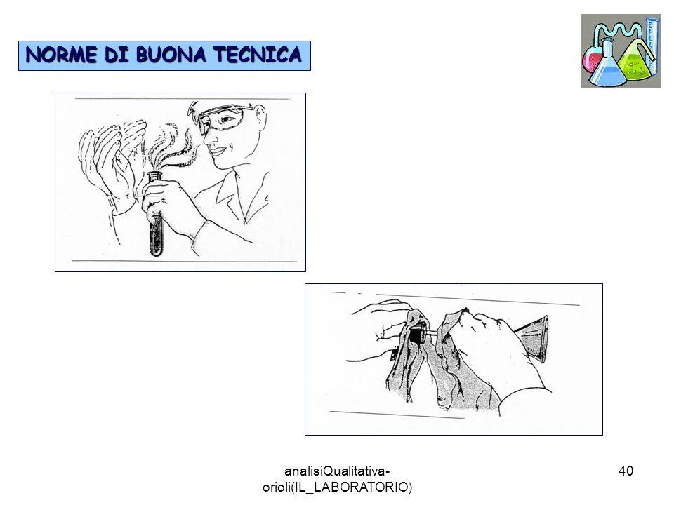 analisiQualitativa- orioli(IL_LABORATORIO) 40 NORME DI BUONA TECNICA