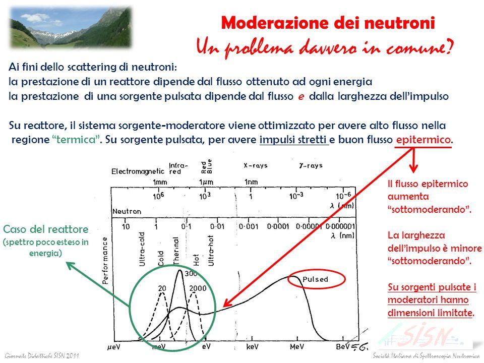 Società Italiana di Spettroscopia Neutronica Giornate Didattiche SISN 2011 Moderazione dei neutroni Un problema davvero in comune? Ai fini dello scatt