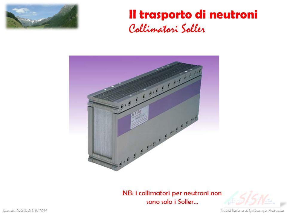 Società Italiana di Spettroscopia Neutronica Giornate Didattiche SISN 2011 Il trasporto di neutroni Collimatori Soller NB: i collimatori per neutroni