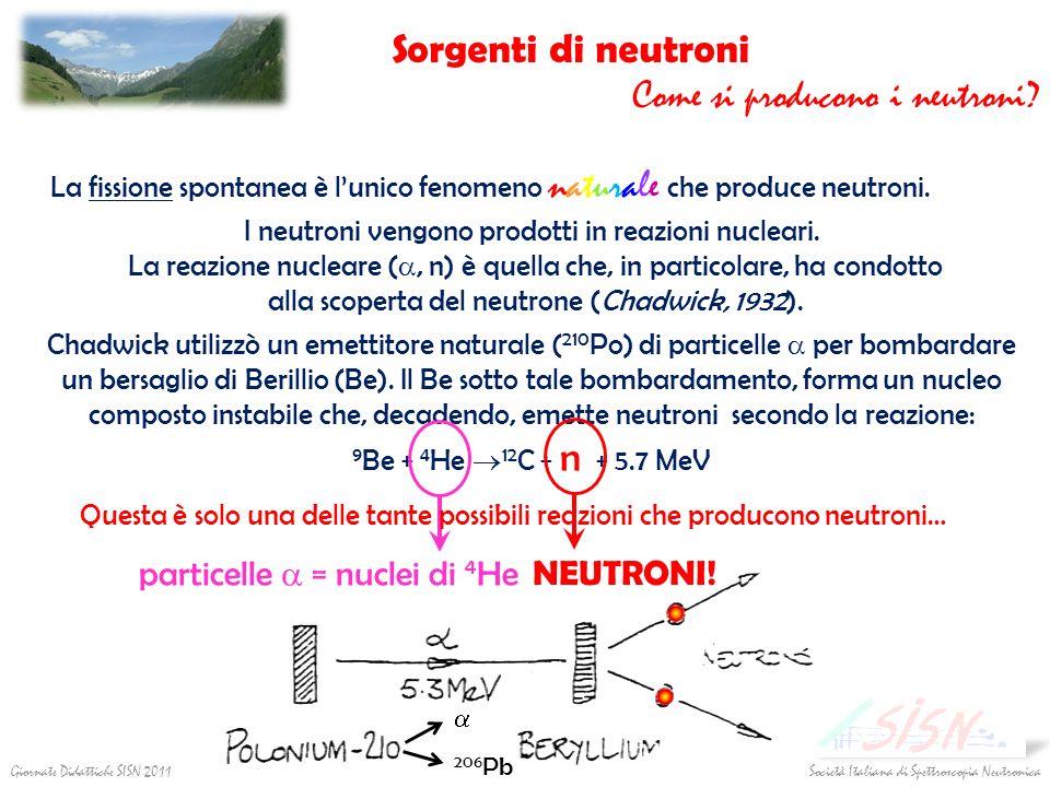 I neutroni vengono prodotti in reazioni nucleari. La reazione nucleare (, n) è quella che, in particolare, ha condotto alla scoperta del neutrone (Cha
