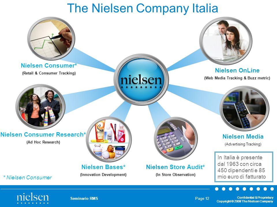 Confidential & Proprietary Copyright © 2007 The Nielsen Company Confidential & Proprietary Copyright © 2008 The Nielsen Company Seminario RMS Page 12