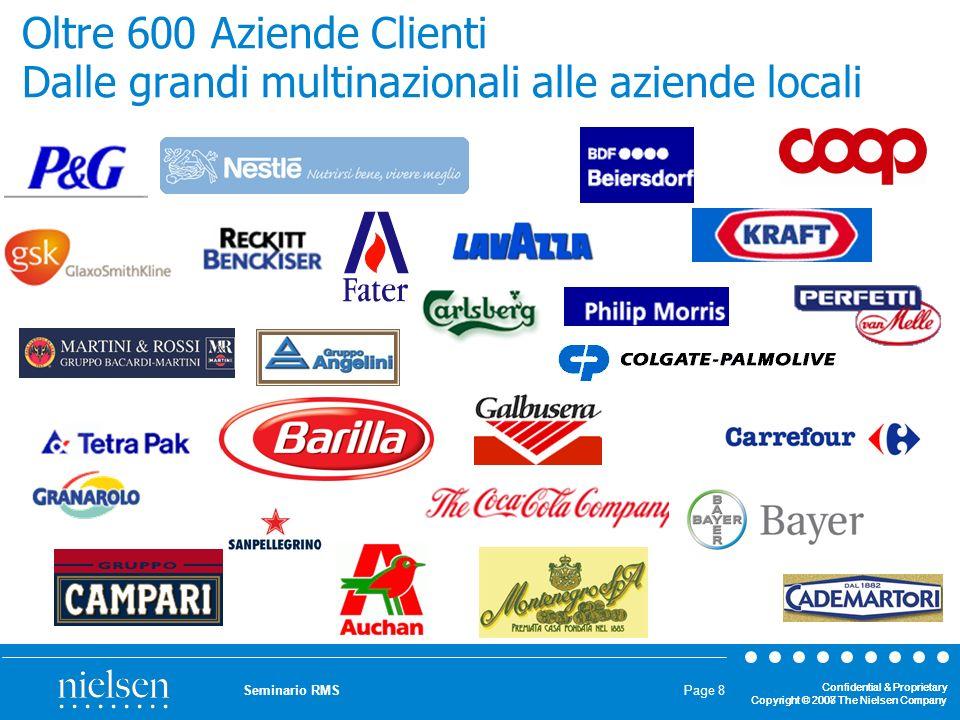 Confidential & Proprietary Copyright © 2007 The Nielsen Company Confidential & Proprietary Copyright © 2008 The Nielsen Company Seminario RMS Page 39 STRATIFICAZIONE DELLUNIVERSO OTTIMA ALLOCAZIONE DEL CAMPIONE NEGLI STRATI IN BASE AI SEGUENTI CRITERI: GEOGRAFIA, CITY SIZES,TIPOLOGIA E DIMENSIONE DEI NEGOZI, ORGANIZZAZIONI/INSEGNE ESPANSIONE IN PONDERATA ALLOCAZ.