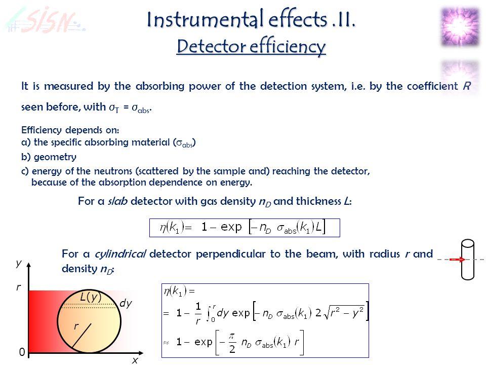 Instrumental effects.II.