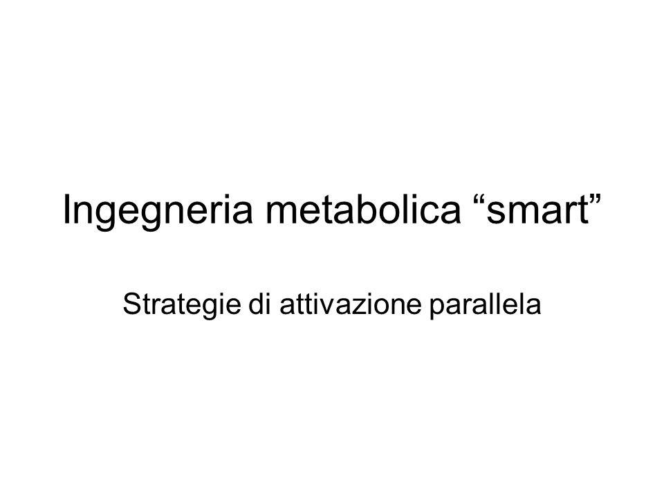 Ingegneria metabolica smart Strategie di attivazione parallela