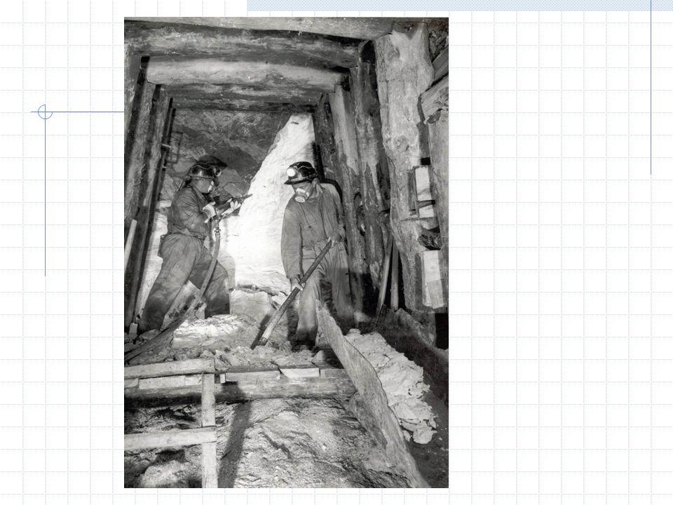 Le tappe del passato minerario 1927: il talco è proprietà demaniale e lo sfruttamento è assegnato alla Società Talco e Grafite Val Chisone Anni 60 ha inizio la fase di declino della attività mineraria in valle, prima con labbandono dei siti minerari periferici (Maniglia, Malzas, Envie, Sapatlé); poi con la drastica riduzione del numero dei dipendenti Anni 80 quando alla Società Talco e Grafite Val Chisone subentra la Luzenac Val Chisone, società leader nella produzione mondiale di talco con una quota di mercato del 47%, pari a un milione 200 mila tonnellate annue, di cui 700 mila tonnellate estratte in Europa (Austria, Francia, Italia, Spagna).