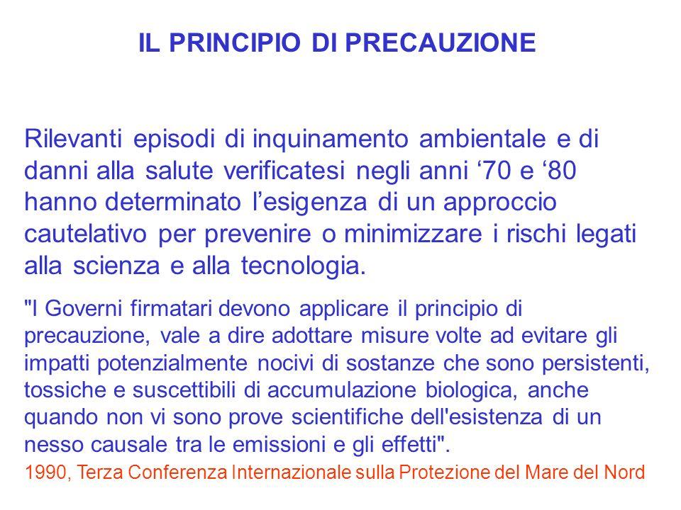 Anche se già radicato nel diritto internazionale come ad esempio i trattati istitutivi dellUnione Europea, il principio di precauzione acquista visibilità nel 1992 con la Dichiarazione di Rio,.