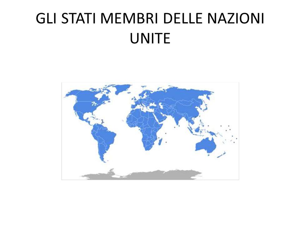 GLI STATI MEMBRI DELLE NAZIONI UNITE LONU fu stabilito nel 24 OTTOBRE 1945 da 51 Paesi, tra cui lItalia, con lo scopo di preservare la pace attraverso la cooperazione internazionale e una politica di sicurezza collettiva.
