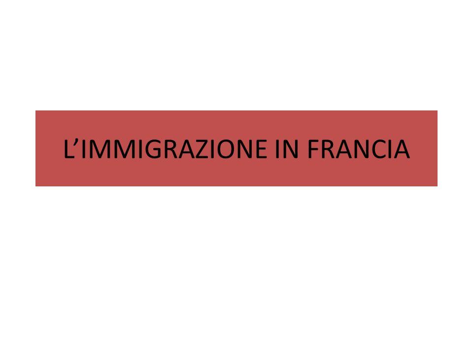 LE DIVERSE FASI Unico paese che a partire dall800 richiama immigrazione ; bassa natalità; forte proprietà contadina, industrializzazione precoce Al 1891 più di 1 milione di immigrati e non si scenderà mai sotto Provenienza da paesi vicini: Belgi a Nord, Italiani a sud ovest, Spagnoli sud est, per lo più lavoro stagionale Forte xenofobia specie nellambiente operaio: linciaggi (Aigues-Mortes 1893, saline)