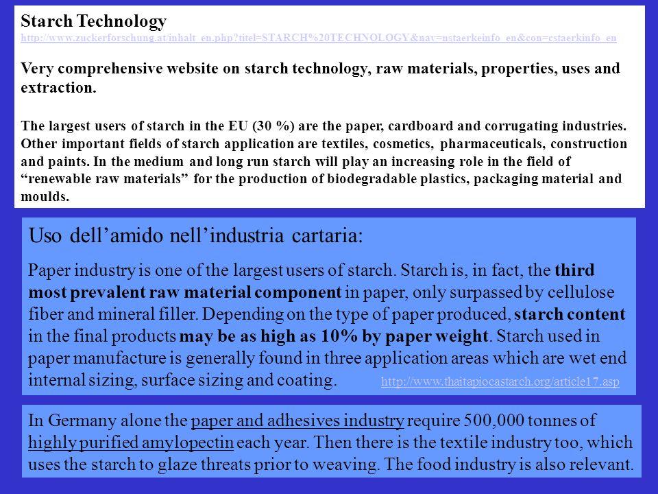 Starch Technology http://www.zuckerforschung.at/inhalt_en.php?titel=STARCH%20TECHNOLOGY&nav=nstaerkeinfo_en&con=cstaerkinfo_en Very comprehensive webs