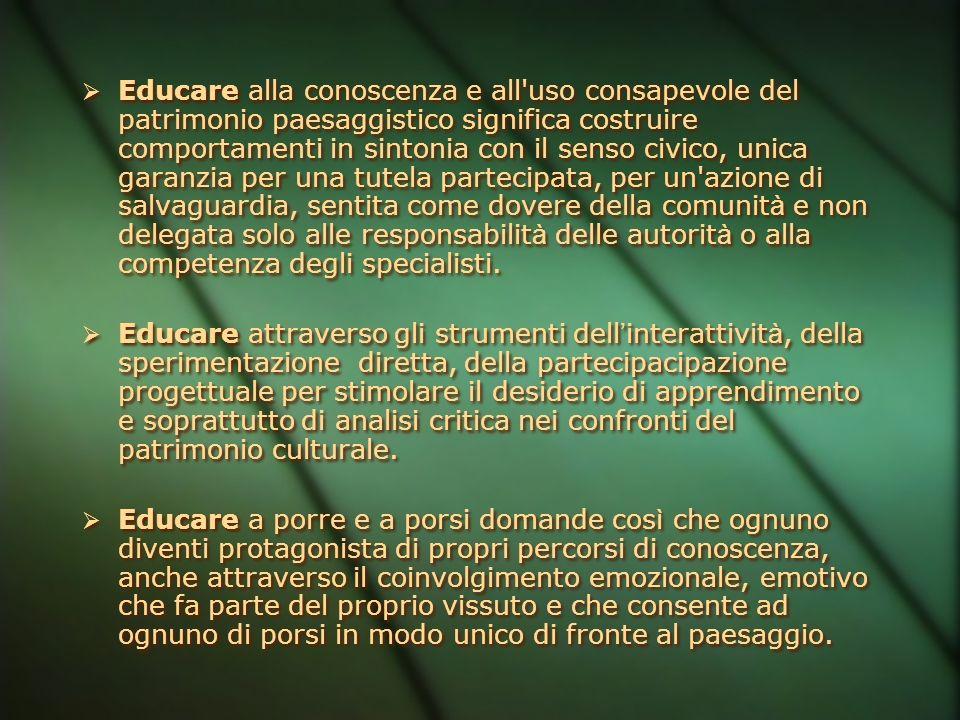 Comunicare Educazione e Divulgazione Attività educativa scolastica ed extra scolastica (percorso curriculare) Attività di formazione specifica Attivit