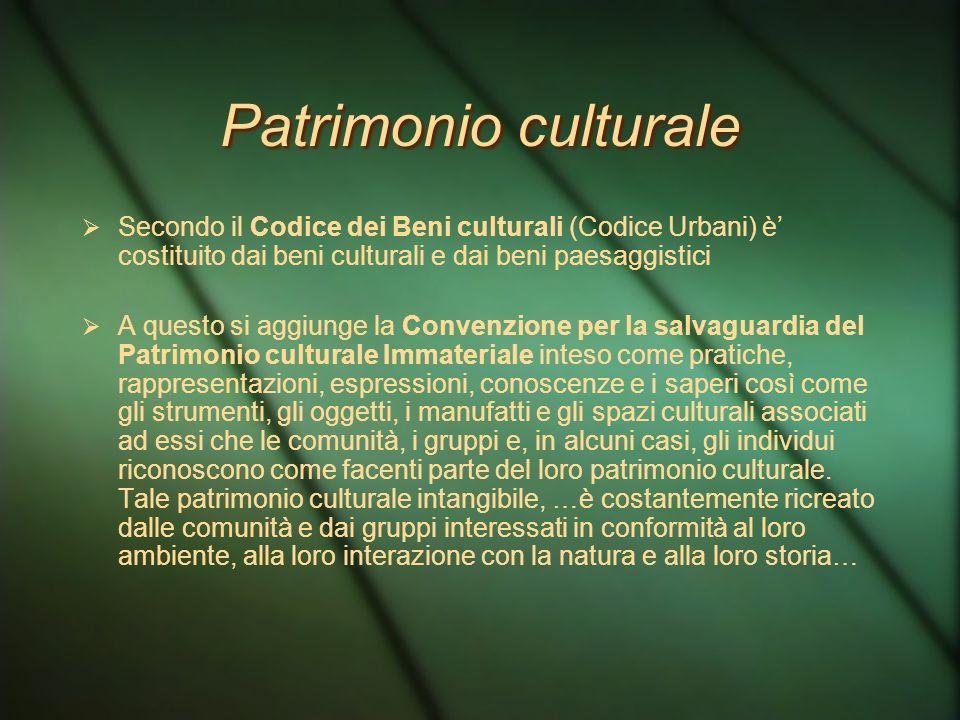Paesaggio e patrimonio culturale Convenzione Europea del paesaggio Il paesaggio in quanto componente essenziale del contesto di vita delle popolazioni