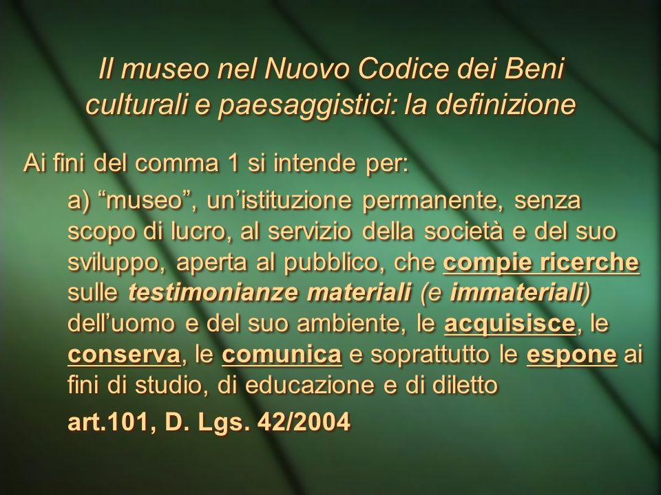 Patrimonio culturale Secondo il Codice dei Beni culturali (Codice Urbani) è costituito dai beni culturali e dai beni paesaggistici A questo si aggiung
