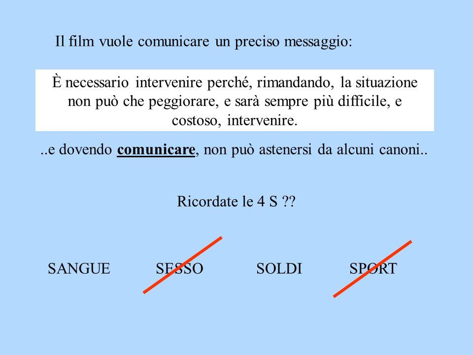 Il film vuole comunicare un preciso messaggio: È necessario intervenire perché, rimandando, la situazione non può che peggiorare, e sarà sempre più di