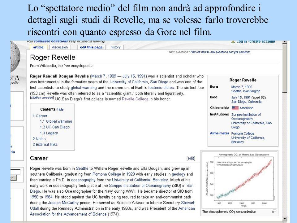 Lo spettatore medio del film non andrà ad approfondire i dettagli sugli studi di Revelle, ma se volesse farlo troverebbe riscontri con quanto espresso