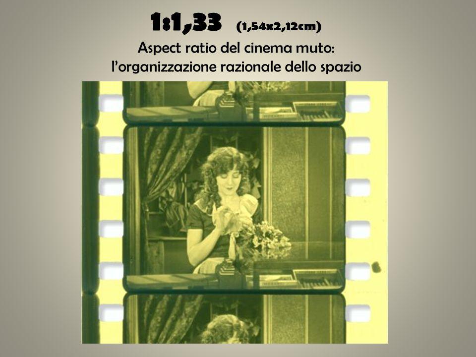 1:1,33 (1,54x2,12cm) Aspect ratio del cinema muto: lorganizzazione razionale dello spazio