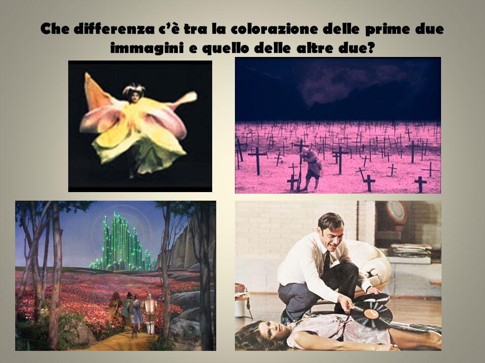 Che differenza cè tra la colorazione delle prime due immagini e quello delle altre due?