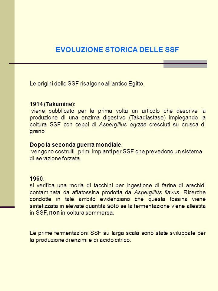 EVOLUZIONE STORICA DELLE SSF Le origini delle SSF risalgono allantico Egitto. 1914 (Takamine): viene pubblicato per la prima volta un articolo che des