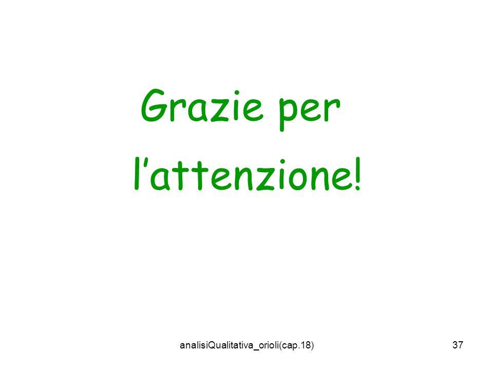 analisiQualitativa_orioli(cap.18)37 Grazie per lattenzione!