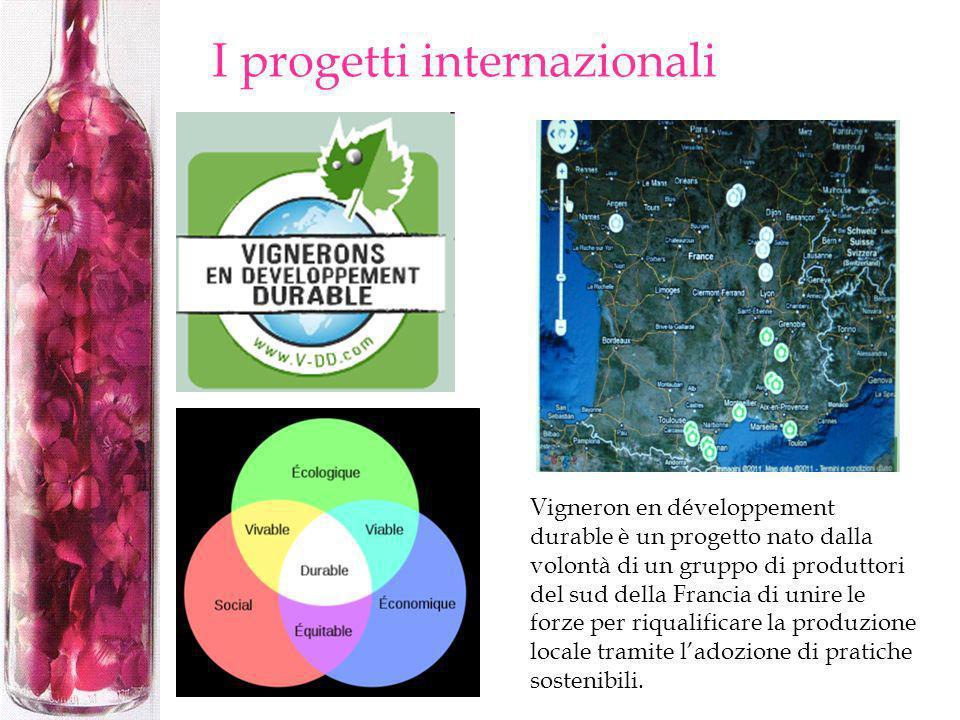 I progetti internazionali Vigneron en développement durable è un progetto nato dalla volontà di un gruppo di produttori del sud della Francia di unire