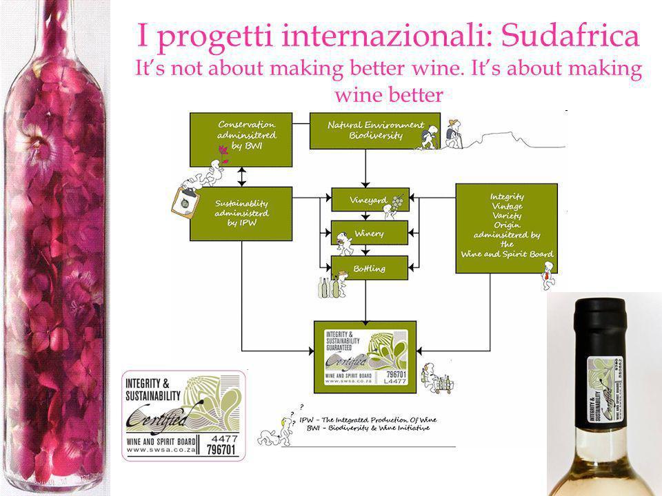 I progetti internazionali: Sudafrica Its not about making better wine. Its about making wine better