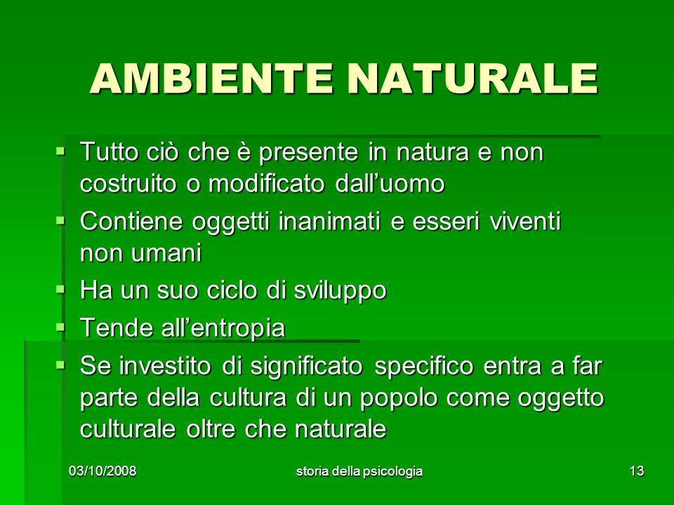 AMBIENTE NATURALE Tutto ciò che è presente in natura e non costruito o modificato dalluomo Tutto ciò che è presente in natura e non costruito o modifi