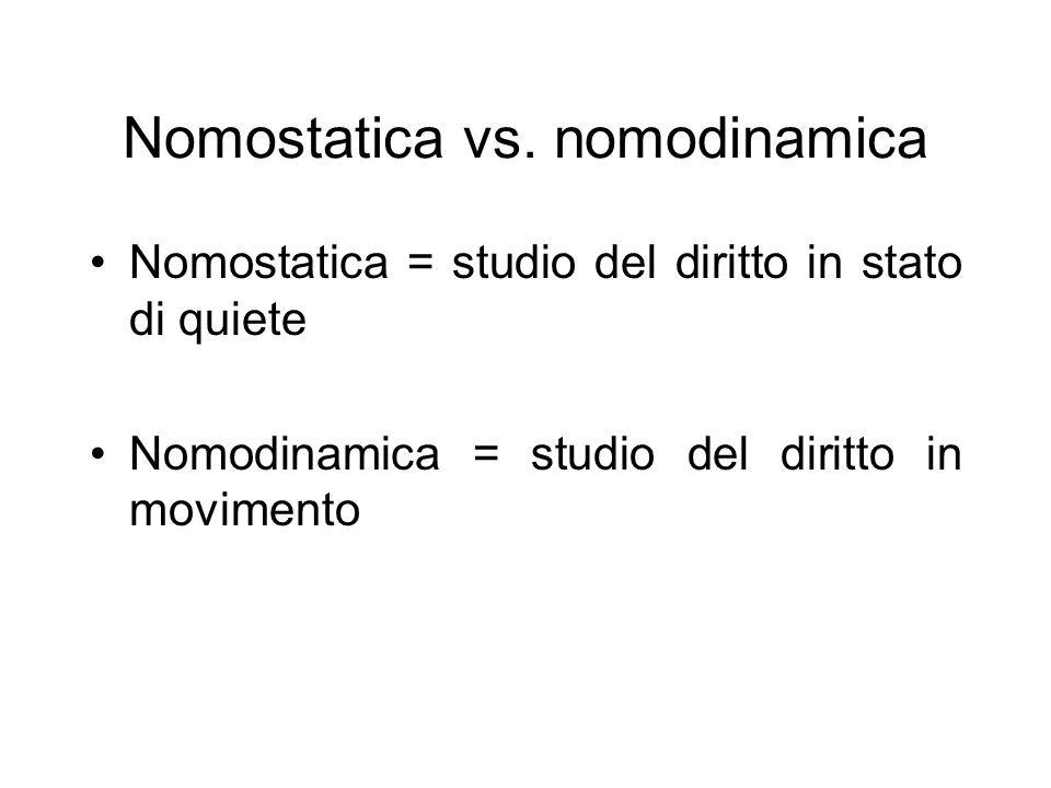Nomostatica vs.