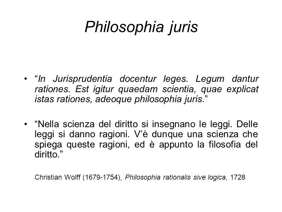 Philosophia juris In Jurisprudentia docentur leges.