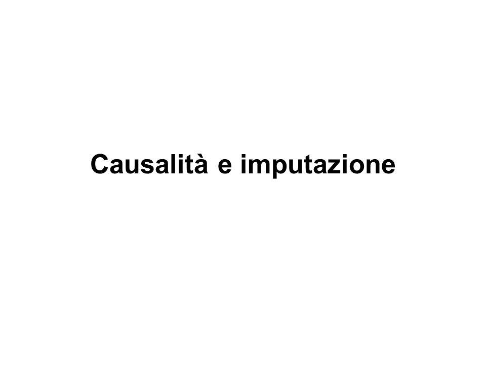 Causalità e imputazione