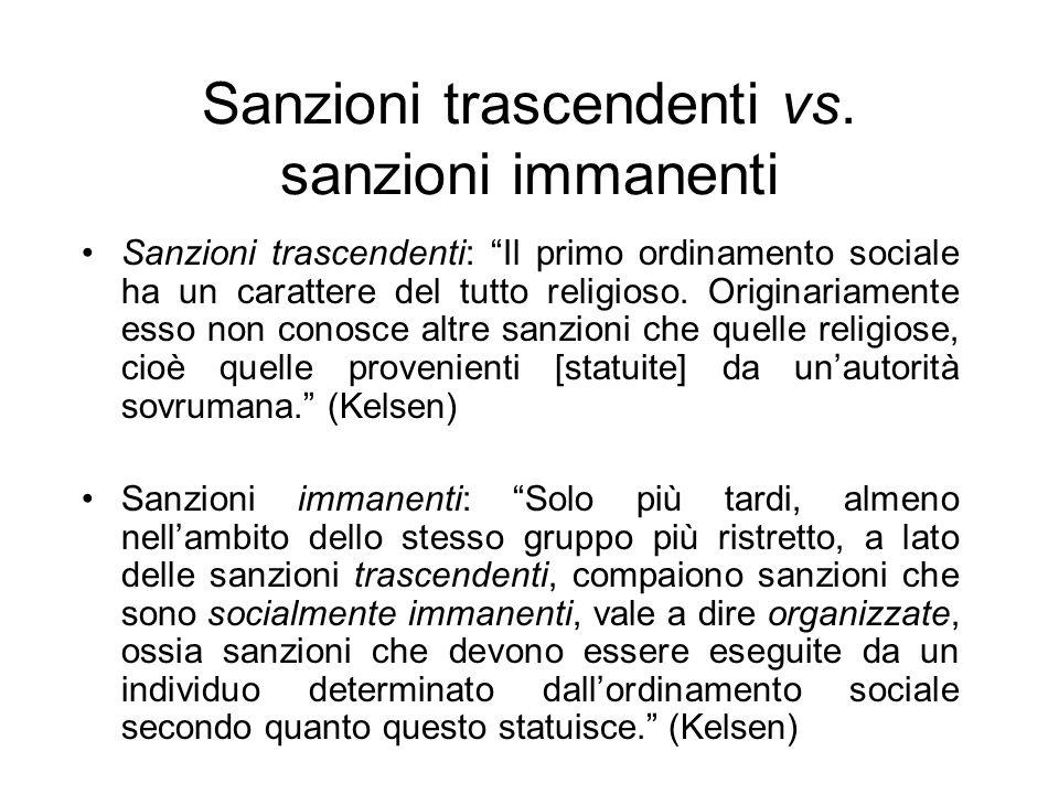 Sanzioni trascendenti vs.