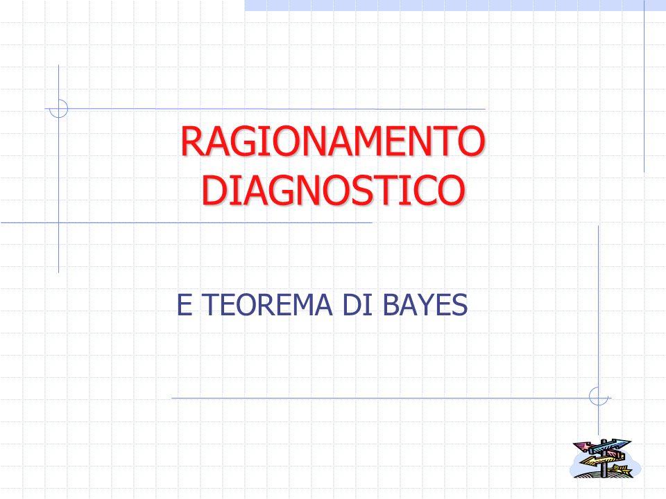 RAGIONAMENTO DIAGNOSTICO E TEOREMA DI BAYES