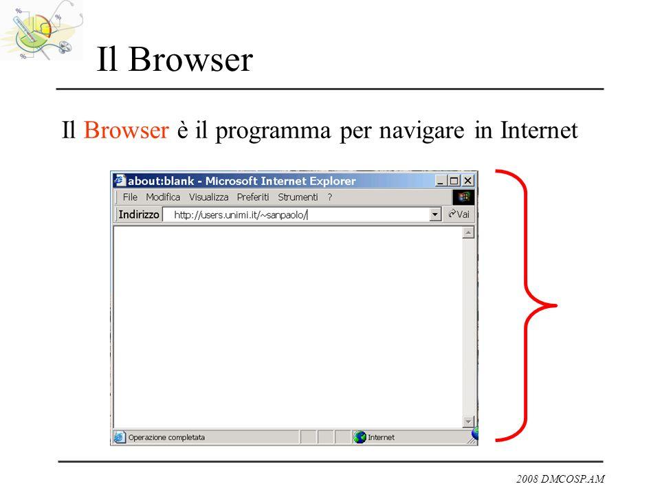 2008 DMCOSP.AM Il Browser Il Browser è il programma per navigare in Internet