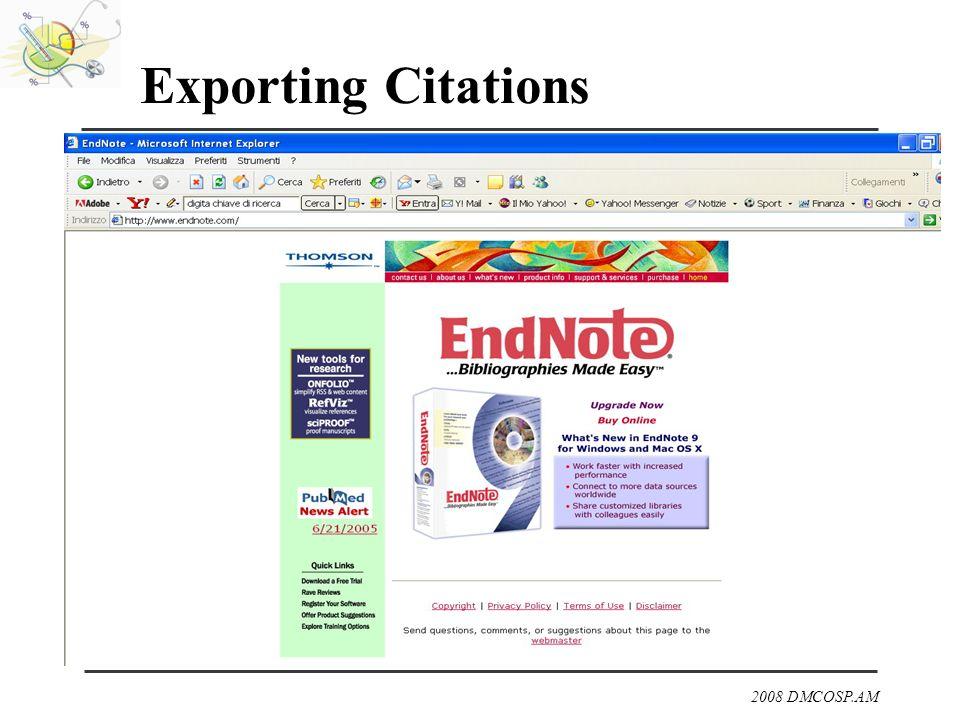2008 DMCOSP.AM Exporting Citations