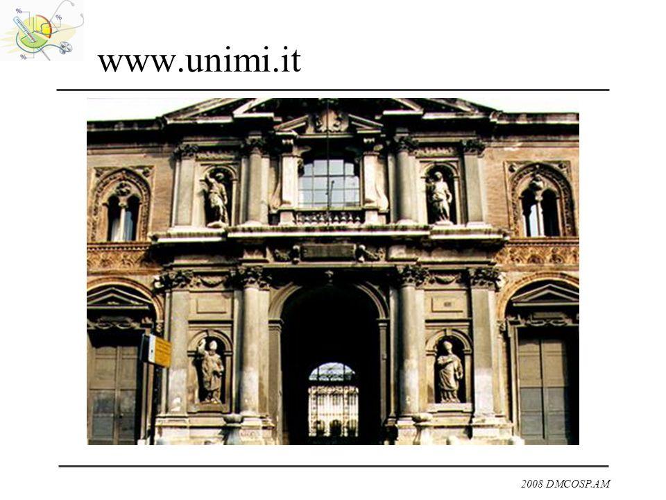 2008 DMCOSP.AM www.unimi.it