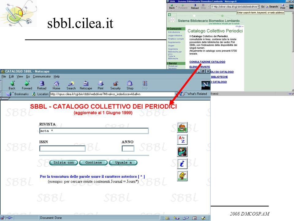 2008 DMCOSP.AM sbbl.cilea.it