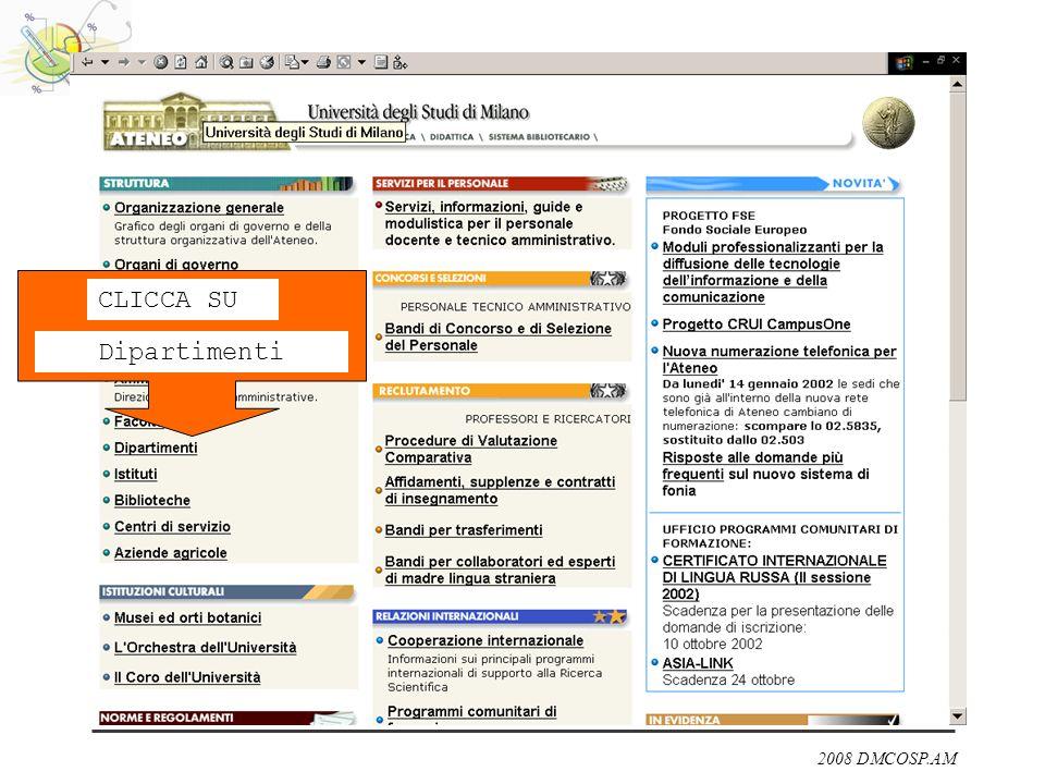 2008 DMCOSP.AM CLICCA SU Dipartimenti