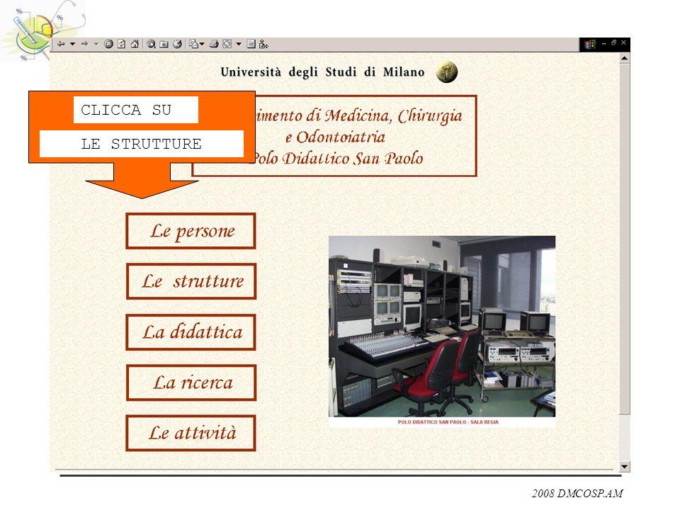 2008 DMCOSP.AM CLICCA SU LE STRUTTURE