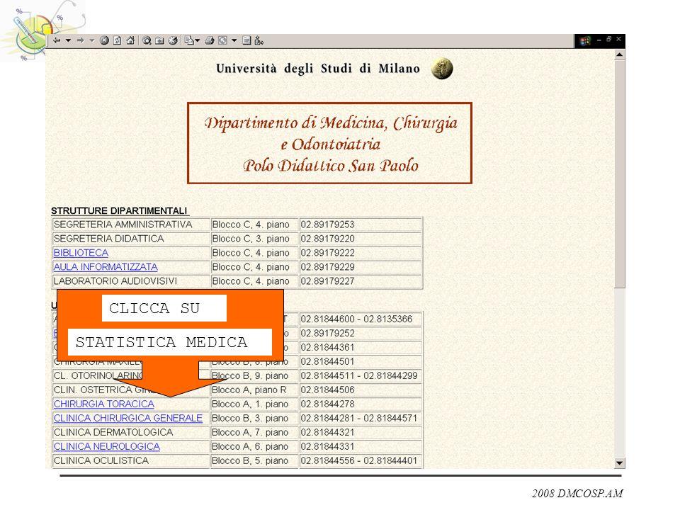 2008 DMCOSP.AM CLICCA SU STATISTICA MEDICA
