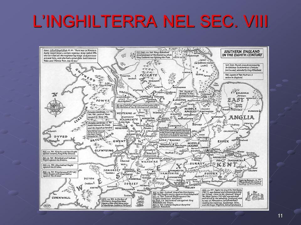 11 LINGHILTERRA NEL SEC. VIII