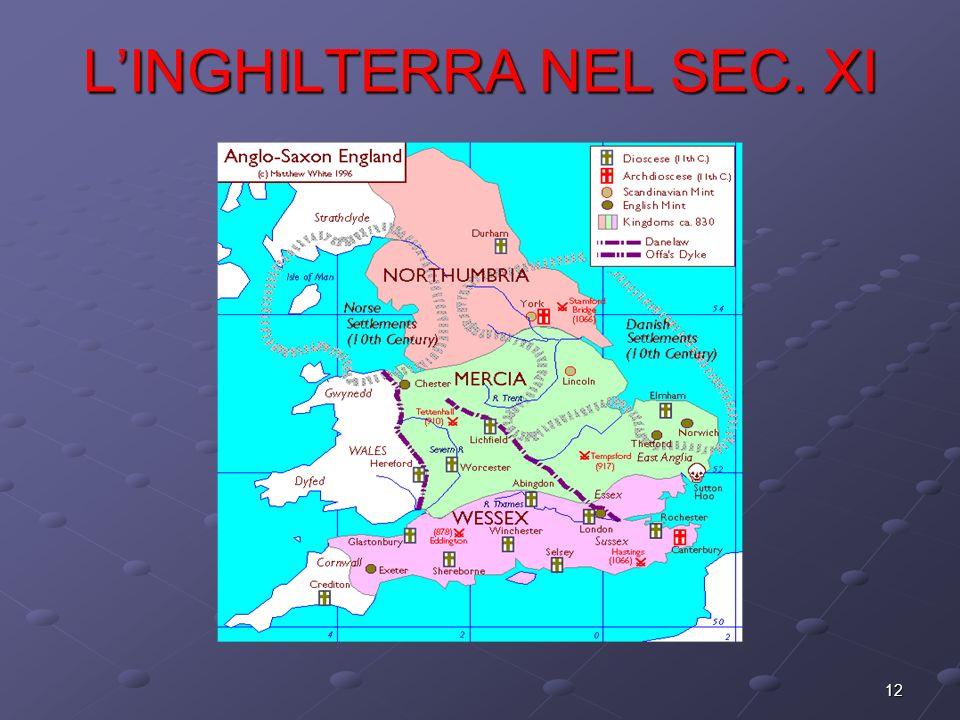 12 LINGHILTERRA NEL SEC. XI