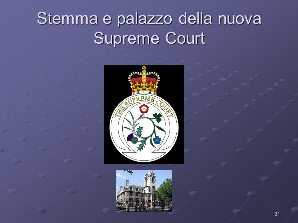 31 Stemma e palazzo della nuova Supreme Court