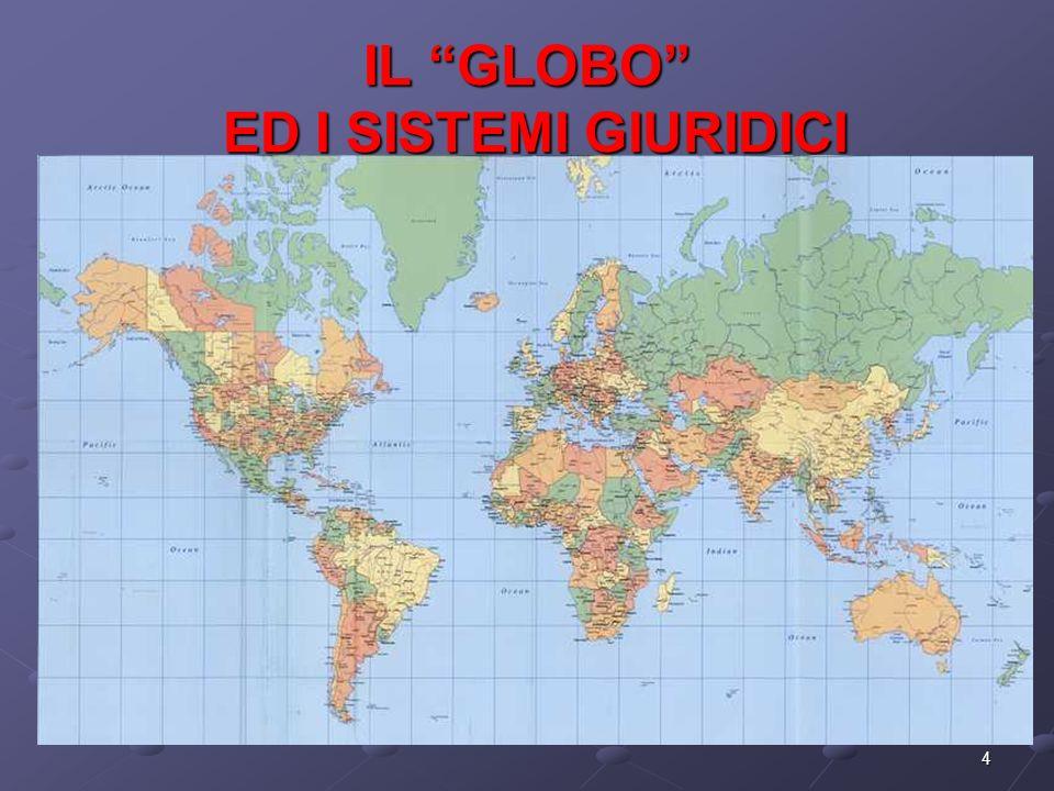 4 IL GLOBO ED I SISTEMI GIURIDICI