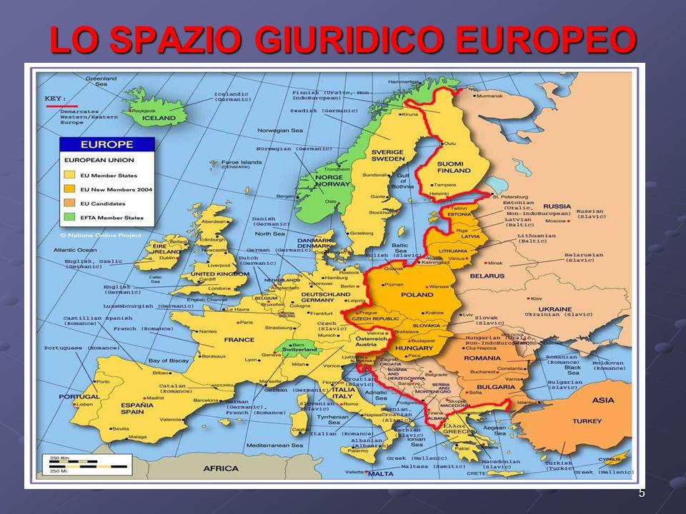 5 LO SPAZIO GIURIDICO EUROPEO