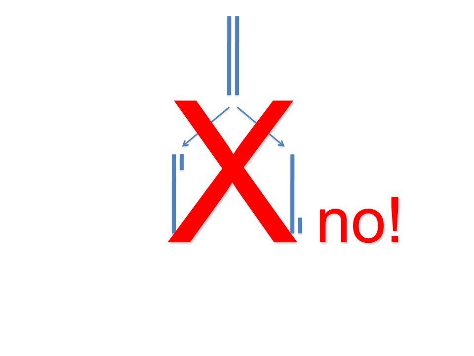 X no!