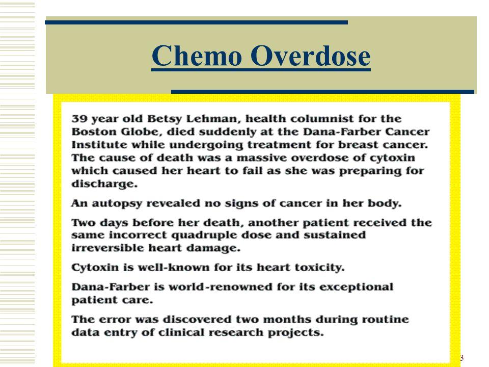 13 Chemo Overdose