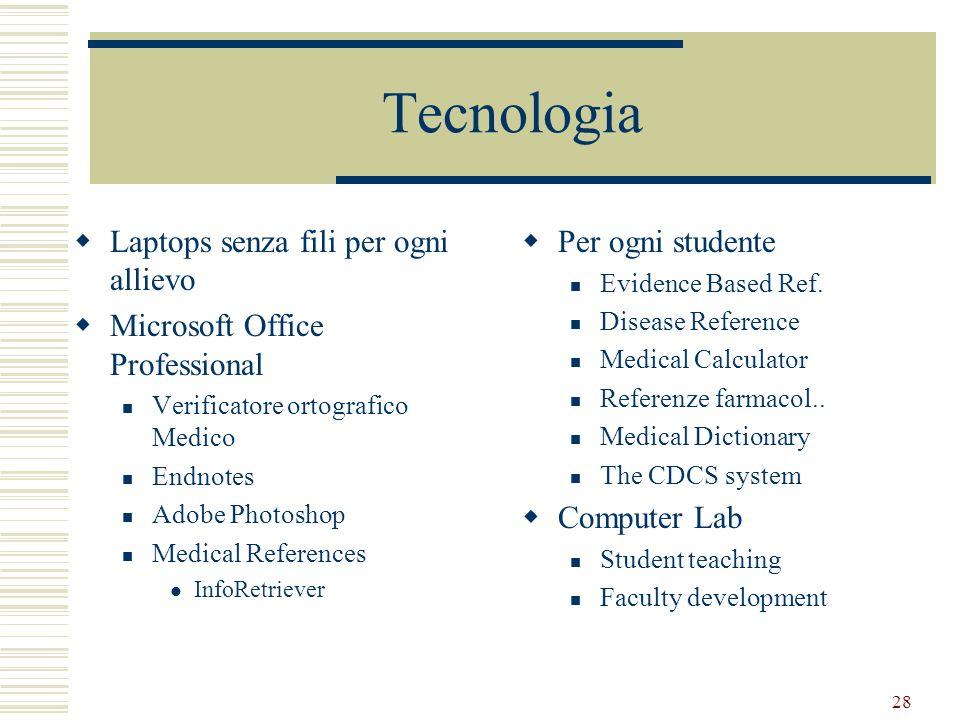28 Tecnologia Laptops senza fili per ogni allievo Microsoft Office Professional Verificatore ortografico Medico Endnotes Adobe Photoshop Medical Refer