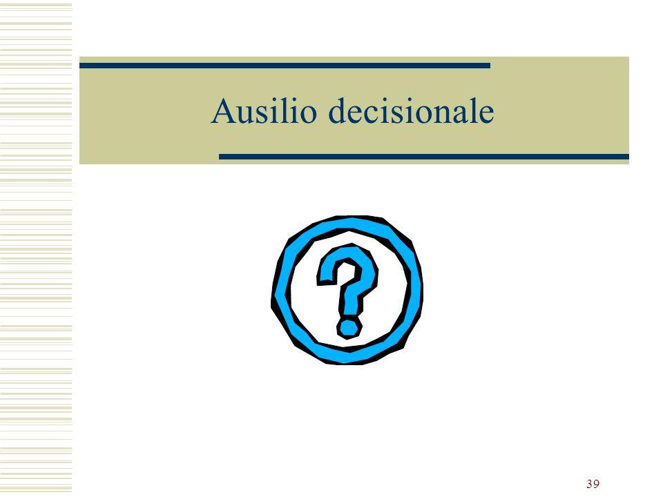 39 Ausilio decisionale