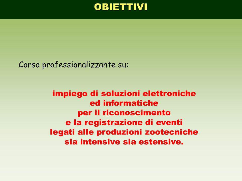 OBIETTIVO CORSO Disciplina che studia: impiegozootecnia, limpiego delle informazioni nella zootecnia, organizzata in imprese, aziende, consorzi etc.